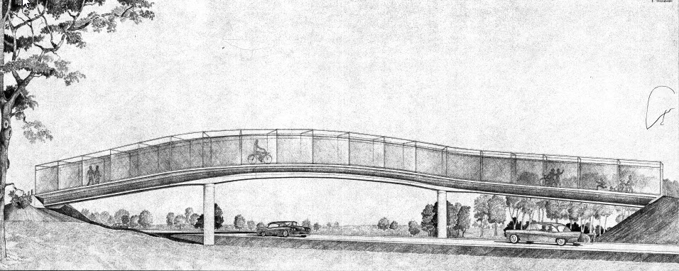 Heathcote Bypass Footbridge Engineer's Rendering