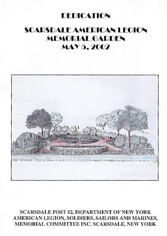 Program From Memorial Garden Dedication