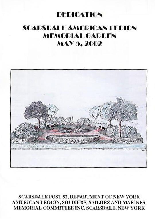 Program From Memorial Garden Dedication