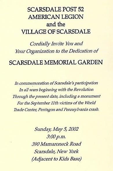 Memorial Garden Invitation